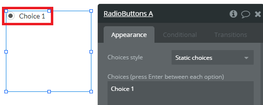 ラジオボタンの使い方