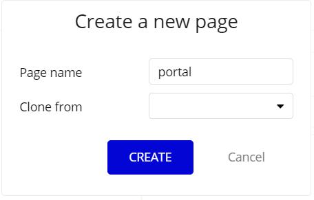 新しいページを作成