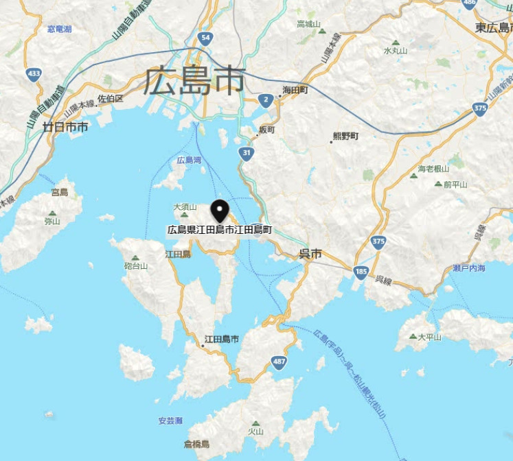 江田島市地図